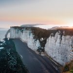 Falaise d'Etretat en Normandie